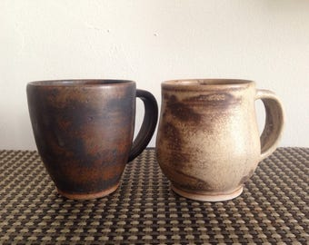 Hand made matte coffee cup/Set of 2 cups