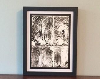 Curvilinear Forms- Original Relief Print