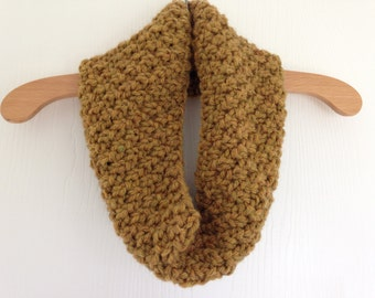 Hand Knitted Mustard Chunky Cosy Cowl