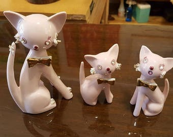 Set of 3 Pink Rhinestone Eyes Thames Litties ! Original Lables !