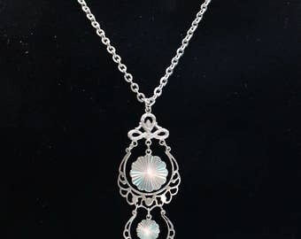 BNN #1 Vintage Silver Tone Sarah Coventry Snow Lace Necklace