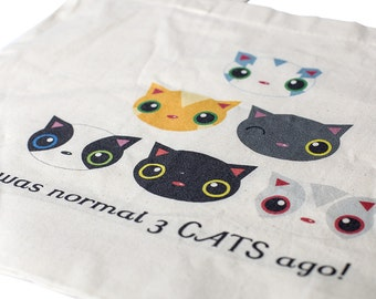 Shopping Bag - I Was Normal 3 Cats Ago