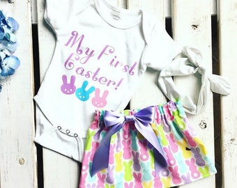 Baby first easter etsy babies first easter outfit my first easter outfit baby girl easter outfit personalized negle Image collections