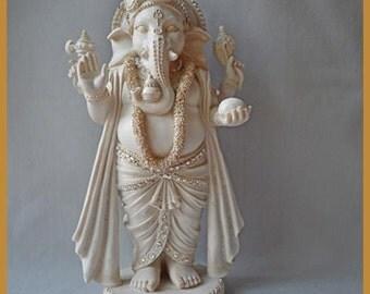 Ganesh Statue Embellished with Swarovski Crystals