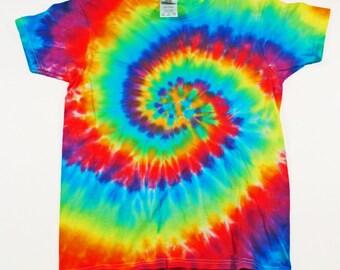 TIe Dye Rainbow Spiral Tshirt