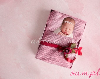 Baby girl newborn digital background/newborn digital backdrop