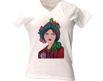 t-shirt vintage women, vintage fashion, vintage clothing, art t-shirt, art shirt, regalo chica, art deco tshirt, art deco t-shirt, artdeco