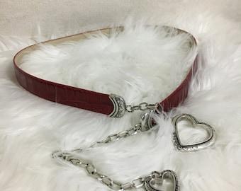 Heart leather Belt