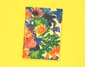 A6 note book blank flowers