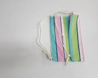 Striped Backpack 13 X 15