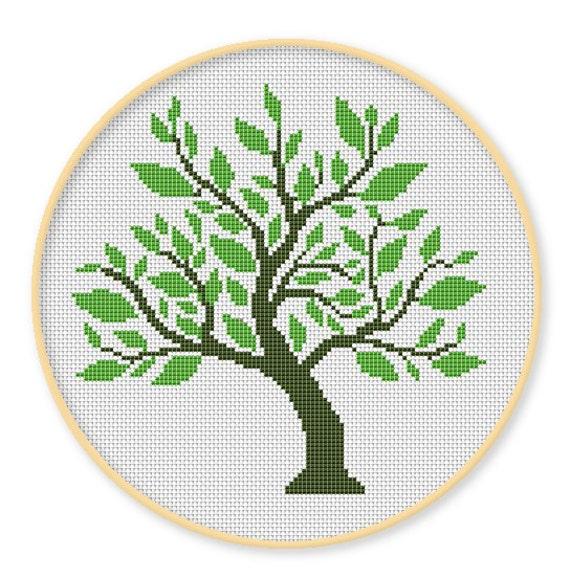 Bogo Free Green Tree Cross Stitch Patterns Needlecraft