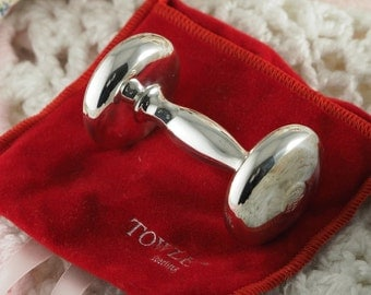 Towle Barbell Sterling Silver Vintage Baby's Rattle
