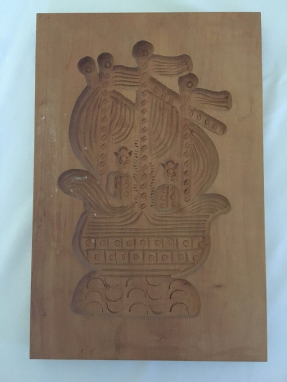 Springerle Vintage Hand-Carved Cookie/Paper Mold (East Germany) – Ship
