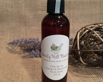 4 oz. Clear the Air Lavender & Peppermint Room Spray | Room Deodorizing Spray | Powder Room | Air Freshener | Bathroom Spray