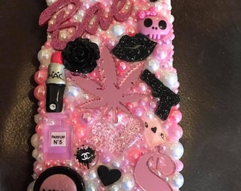 Edgy Kawaii Bling Iphone case!