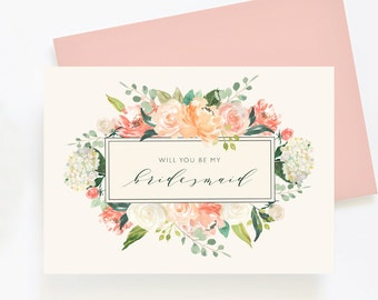Wedding Day Cards - Bridesmaid Cards SET OF 6