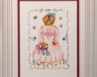 Gouache Paint - Butterfly Betty - Framed - Picture Ref: 21