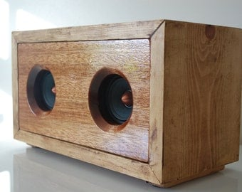 Real Wood Handmade Wireless Speaker For iPhone, Android or MP3