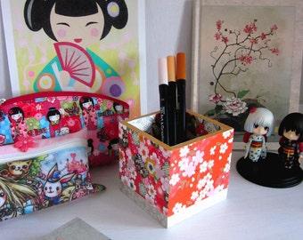 Pencils storage Japanese pattern cherry bloom pot - Type B