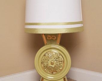 Vintage/ Mid Century Green Apple Lamp