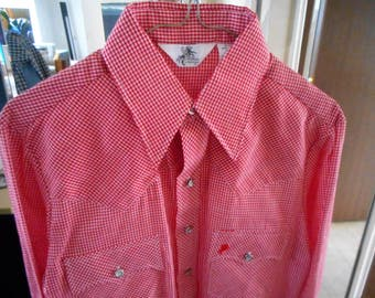 "Vintage Western Shirt    by LARRY MAHAN for BUDWEISER   70""s or 80's   Never Worn"