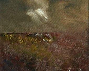 Curbar Edge - Mini Oil Painting