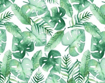 LEAVES CRIB BEDDING. Palm Leaf Baby Sheet. Green baby bedding. Tropical nursery. Tropical baby room. Tropical Blanket. Leaf baby blanket.