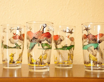 Vintage Juice Glass Set of 4