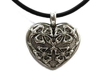 Heart jewelry set Heart pendant  Heart earrings Heart pendant & earrings set Gift set