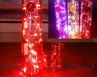 Ciroc Amaretto Vodka Bottle Light. Upcycled Bottle Lamp. Perfect Mood Lighting Gift For Women & Boyfriend Gift For Men. Upcycled Lighting