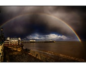 A rainbow over Penarth Pi...