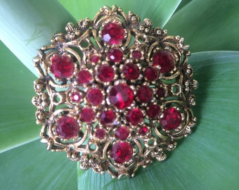 Vintage costume jewellery brooch