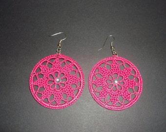Finished crochet earrings