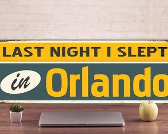 Orlando Signs, Orlando-Vintage style, Orlando Decor, Orlando Art Prints, Orlando Metal Sign, Orlando metal art, Metal Sign, vintage sign
