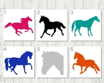 Horse Decal - Horseback Riding Decal - Gift for Horse Lover - Horse Car Decal - Western Sticker - Farm Decal - Cowboy Decal - Equine Decal