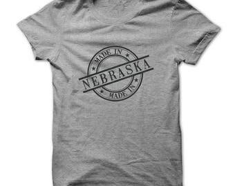 Nebraska T Shirt - Made In Nebraska Shirt - Nebraska Birthday Shirt - Red - Gray - Small To 4XL - Unisex - Birthday Gift - Nebraska Gifts