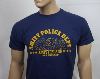 Jaws inspired Amity Police Department t-shirt