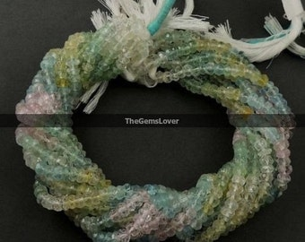 13 Inch Multi Aquamarine Faceted Beads AAA+ Quality Natural Multi Aquamarine Faceted Rondelle Beads Stone Size 3mm Multi Aquamarine Beads
