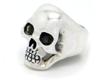 Skull Ring, Silver Skull Ring, 925 Sterling Silver Anatomical Skull Ring, Heavy Skull Ring
