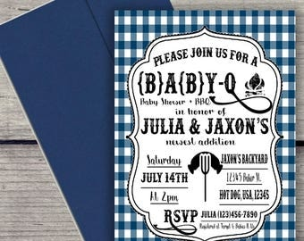 Digital BBQ Baby Shower Invitation File