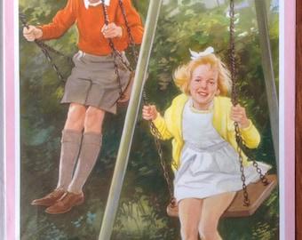 Vintage Ladybird Books Posters, rare, original 1960's Peter and Jane