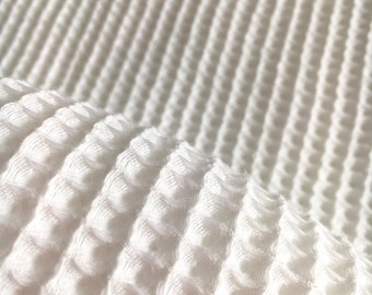 Cotton Waffle Fabric Etsy Au