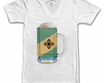 Ladies Madison WI City Flag Beer Mug Tee, Women's Tee, Home Tee, City Pride, City Flag, Beer Tee, Beer Lover, Beer Thinkers, Beer T-Shirt