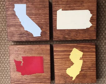 Set of four SEPARATE *your state* OR *your country* coasters