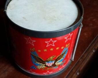 Vintage Bicentennial Child's Toy Drum