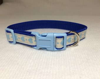 Blue Hearts Dog Collar
