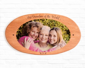 personalized grandma gifts great grandma gift wood wall art picture on wood photo on wood personalized gift wood picture frame