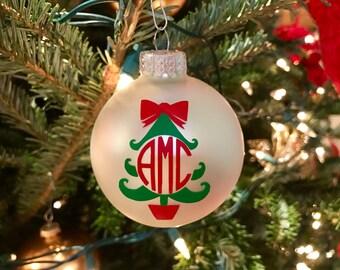 Monogrammed Christmas Tree Ornament