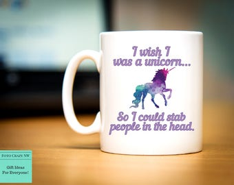 Wish I Was A Unicorn | Morning Mug | Birthday Gift | Unicorn Lover
