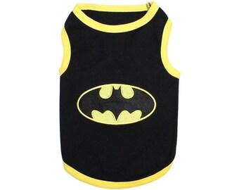 Batman Dog T-Shirt, Dog Clothes, Pet Shirts